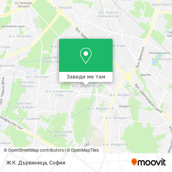 Ж.К. Дървеница карта