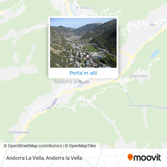 mapa Andorra La Vella