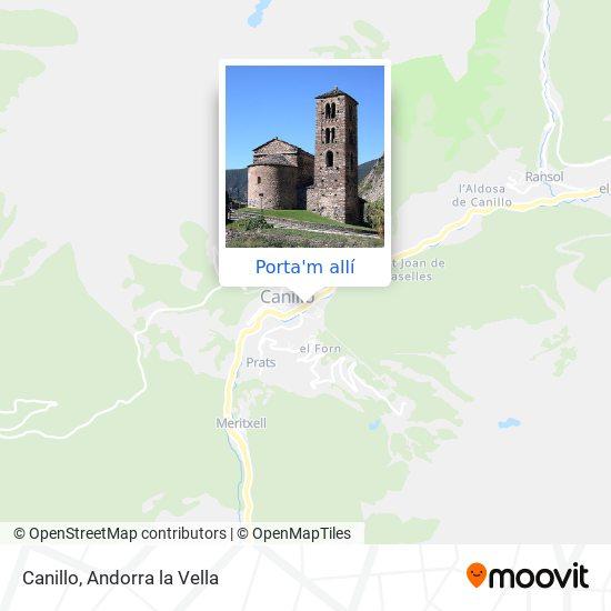 mapa Canillo