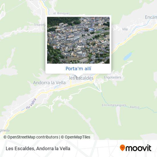 mapa Les Escaldes