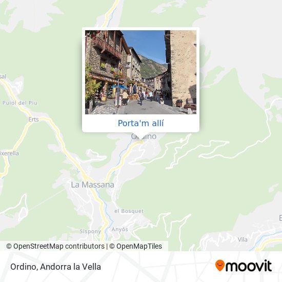mapa Ordino
