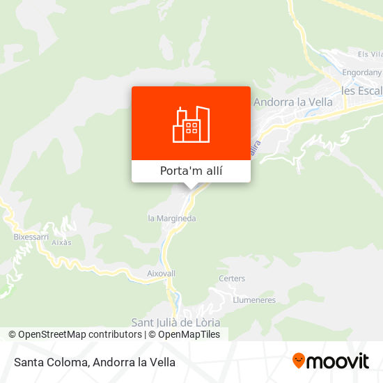 mapa Santa Coloma