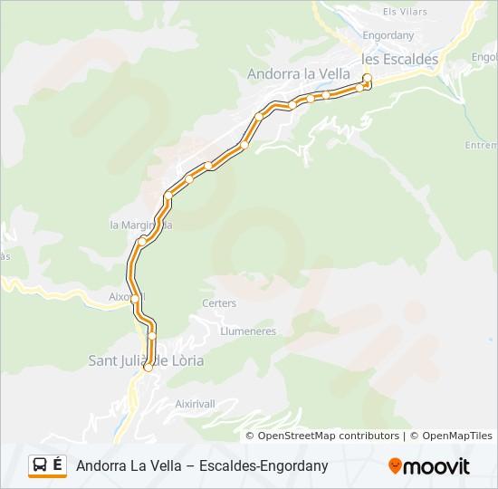 E Route Dienstregeling Haltes Kaarten Andorra La Vella