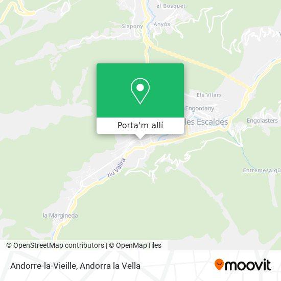 mapa Andorre-la-Vieille