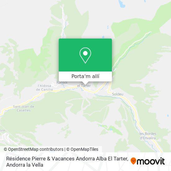 mapa Résidence Pierre & Vacances Andorra Alba El Tarter