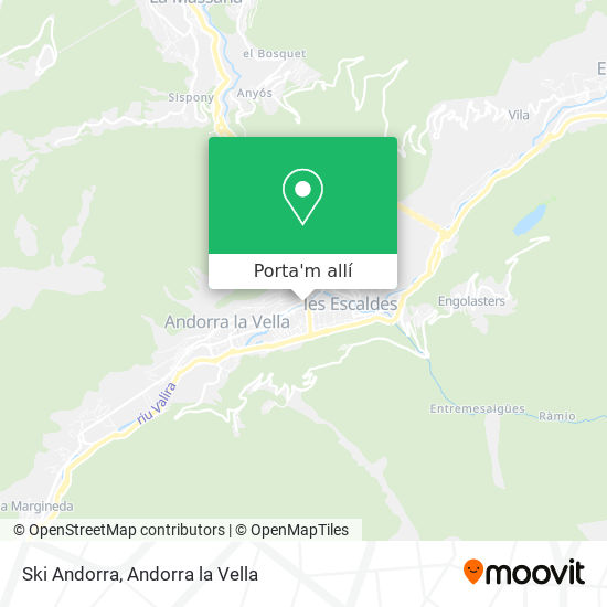mapa Ski Andorra