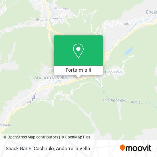 mapa Snack Bar El Cachirulo