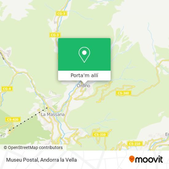 mapa Museu Postal