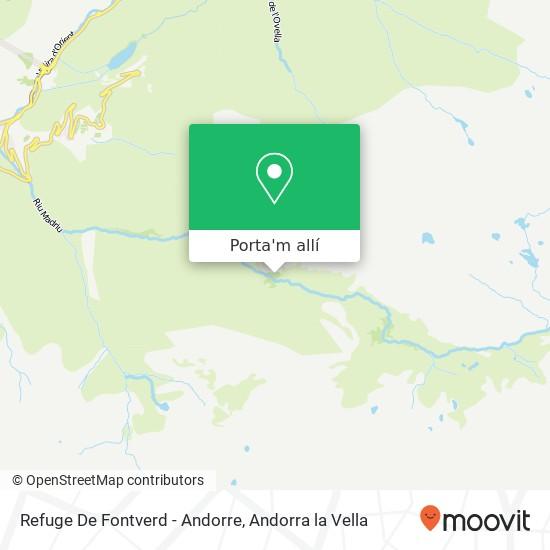 mapa Refuge De Fontverd - Andorre