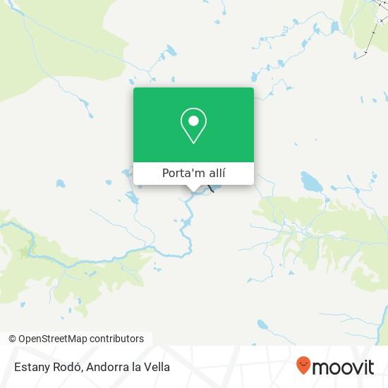 mapa Estany Rodó