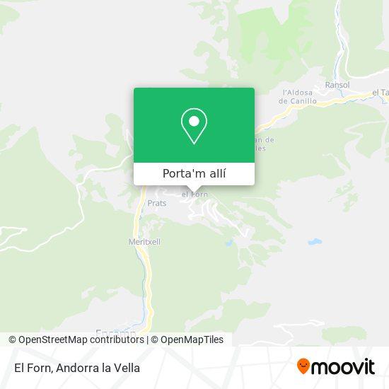mapa El Forn