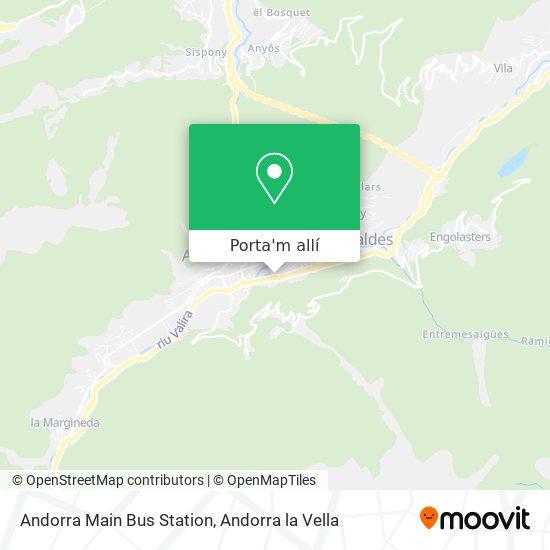 mapa Andorra Main Bus Station