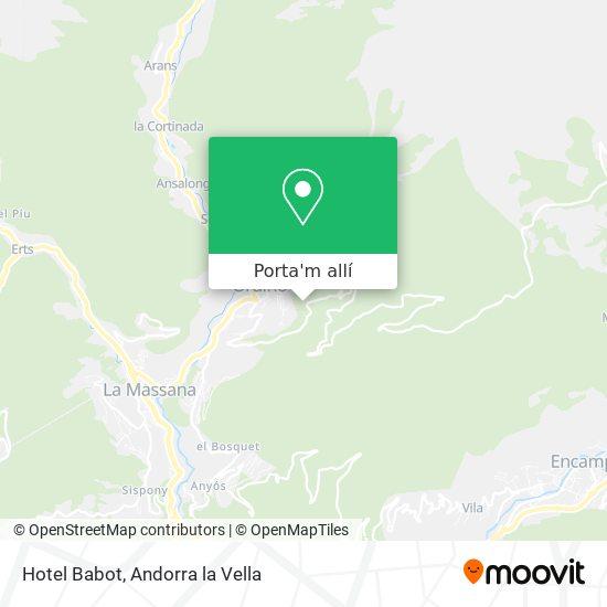 mapa Hotel Babot