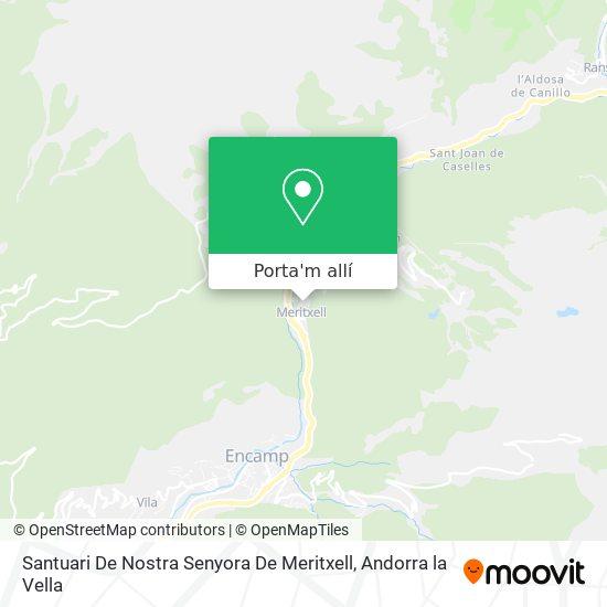 mapa Santuari De Nostra Senyora De Maritxell