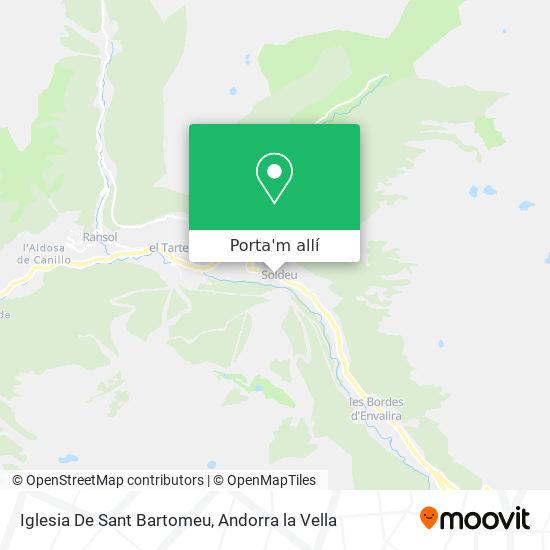 mapa Iglesia De Sant Bartomeu