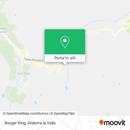 mapa Burger King