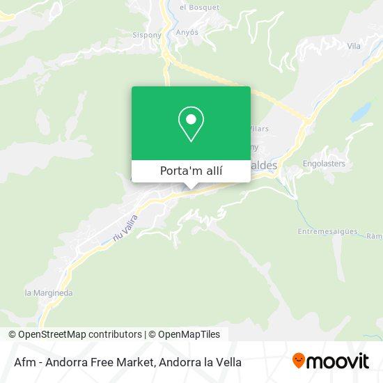 mapa Afm - Andorra Free Market