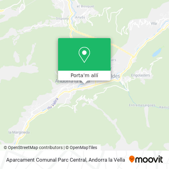 mapa Aparcament Comunal Parc Central