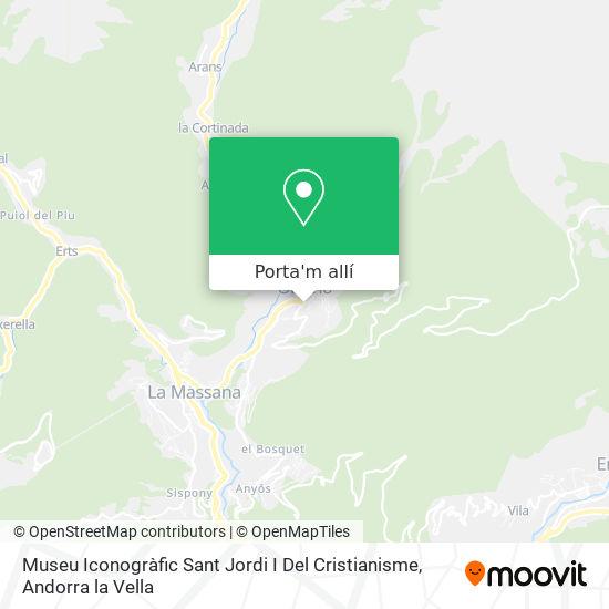 mapa Museu Iconogràfic Sant Jordi I Del Cristianisme