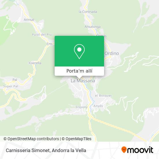 mapa Carnisseria Simonet