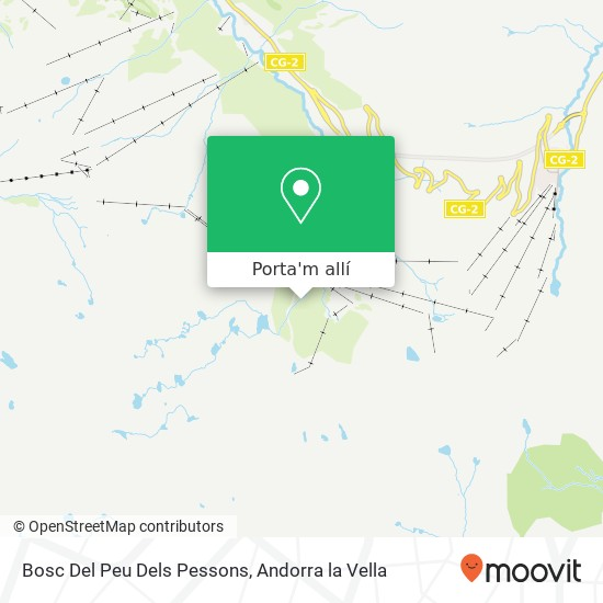 mapa Bosc Del Peu Dels Pessons