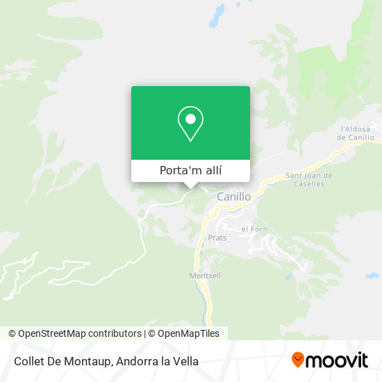 mapa Collet De Montaup