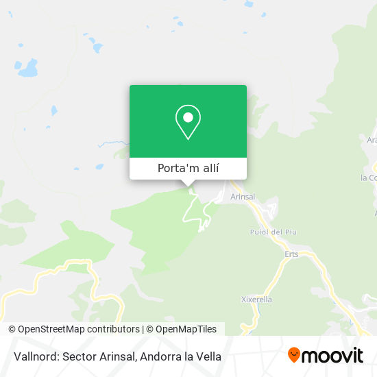 mapa Vallnord: Sector Arinsal