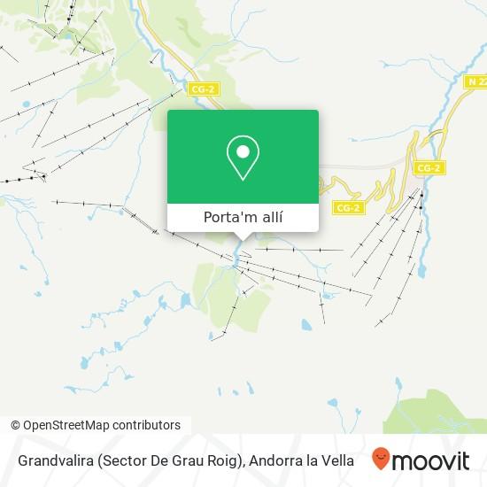 mapa Grandvalira (Sector De Grau Roig)