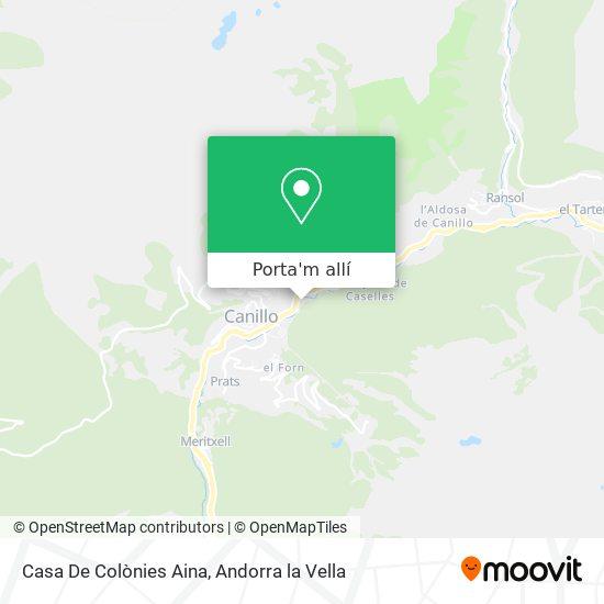 mapa Casa De Colònies Aina