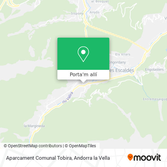 mapa Aparcament Comunal Tobira