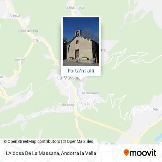 mapa L'Aldosa De La Massana