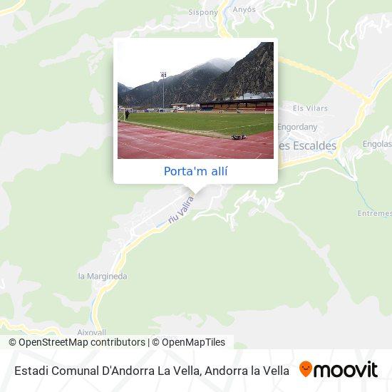 mapa Estadi Comunal D'Andorra La Vella