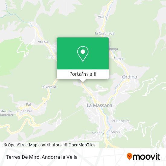 mapa Terres De Miró