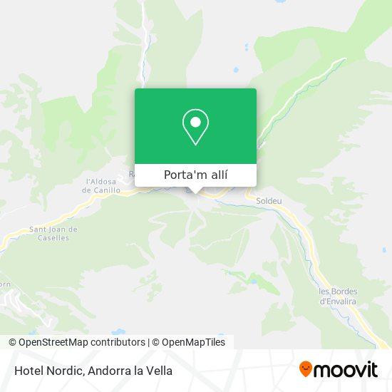 mapa Hotel Nordic