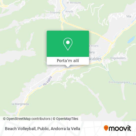 mapa Beach Volleyball, Public