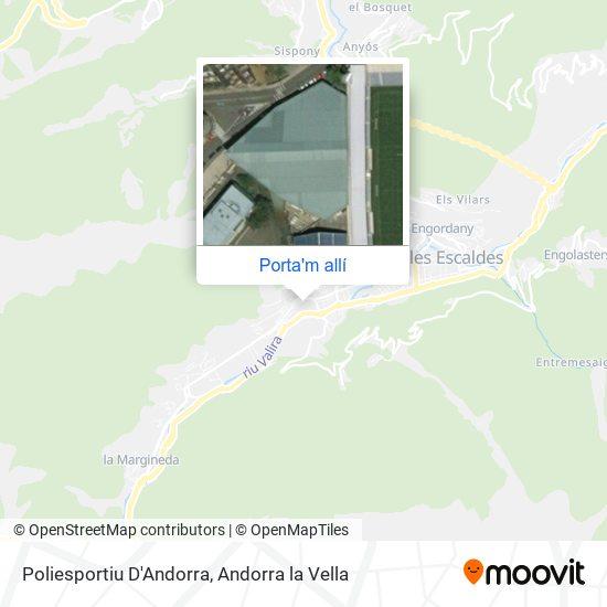 mapa Poliesportiu D'Andorra
