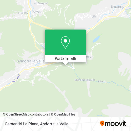 mapa Cementiri La Plana