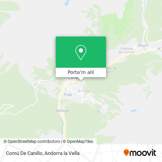 mapa Comú De Canillo