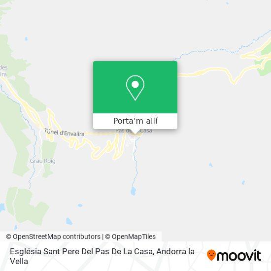 mapa Església Sant Pere Del Pas De La Casa