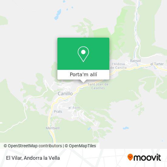 mapa El Vilar