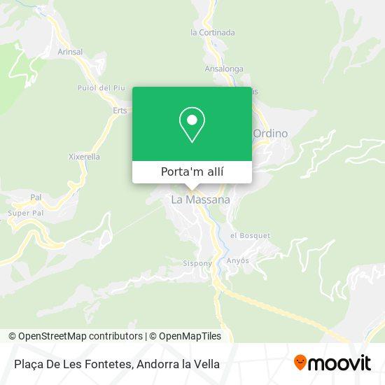mapa Plaça De Les Fontetes