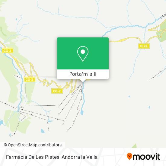 mapa Farmàcia De Les Pistes
