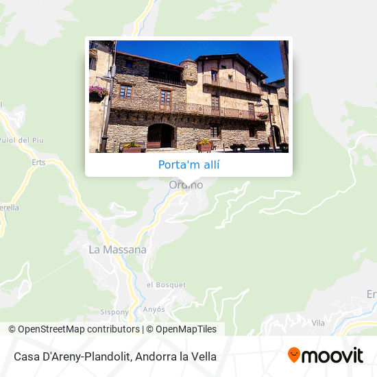 mapa Casa D'Areny-Plandolit
