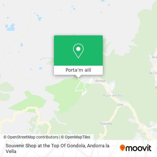 mapa Souvenir Shop At The Top Of Gondola