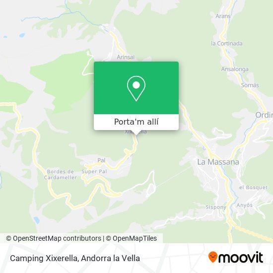 mapa Camping Xixerella