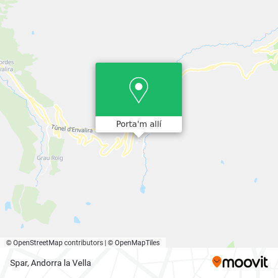 mapa Spar