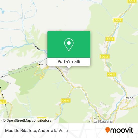mapa Mas De Ribafeta