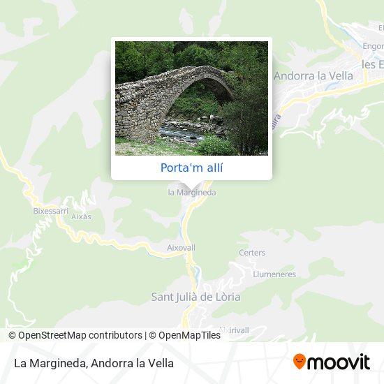 mapa La Margineda