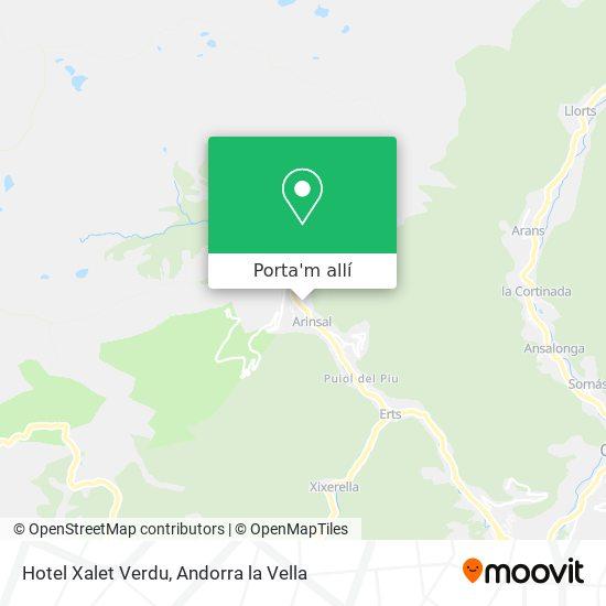 mapa Hotel Xalet Verdu
