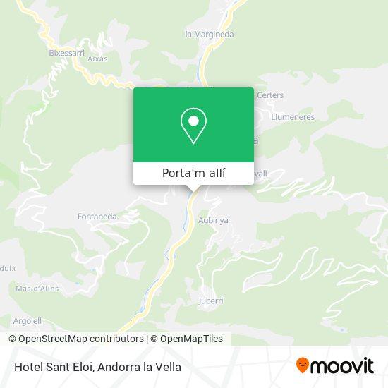 mapa Hotel Sant Eloi